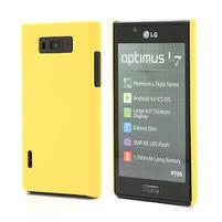 Texturované pouzdro pro LG Optimus L7 P700- žluté