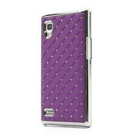 Drahokamové pouzdro pro LG Optimus L9 P760- fialové