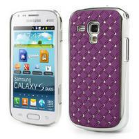 Drahokamové pouzdro pro Samsung Trend plus, S duos- fialové