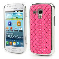 Drahokamové pouzdro pro Samsung Trend plus, S duos- světlerůžové