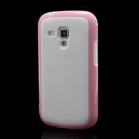 Plastogelové pouzdro na Samsung Galaxy Trend, Duos- růžové