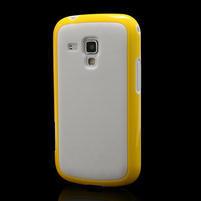 Plastogelové pouzdro na Samsung Galaxy Trend, Duos- žluté