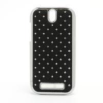 Drahokamové pouzdro pro HTC One SV- černé