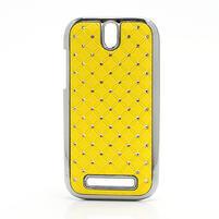 Drahokamové pouzdro pro HTC One SV- žluté