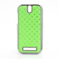 Drahokamové pouzdro pro HTC One SV- zelené