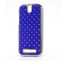 Drahokamové pouzdro pro HTC One SV- modré