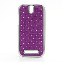 Drahokamové pouzdro pro HTC One SV-fialové