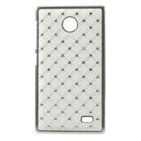 Drahokamové pouzdro na Nokia X dual- bílé