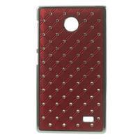 Drahokamové pouzdro na Nokia X dual- červené