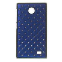 Drahokamové pouzdro na Nokia X dual- modré