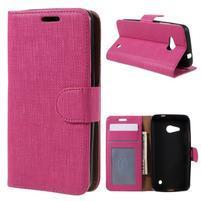 Cloth PU kožené pouzdro na mobil Microsoft Lumia 550 - rose