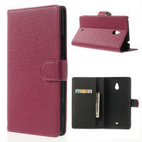 Peněženkové pouzdro pro Nokia Lumia 1320- růžové