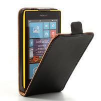 Flipové černé pouzdro na Nokia Lumia 520