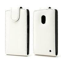 Flipové pouzdro na Nokia Lumia 620- bílé