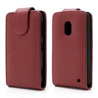Flipové pouzdro na Nokia Lumia 620- červené