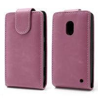 Flipové pouzdro na Nokia Lumia 620- růžové