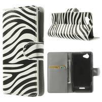 Peněženkové pouzdro na Sony Xperia L C2105 - zebrovité