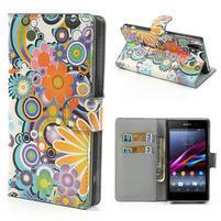 Peněženkové pouzdro na Sony Xperia Z1 C6903 L39- barevné květy