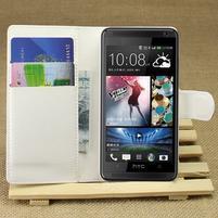 Peněženkové pouzdro pro HTC Desire 601- bílé