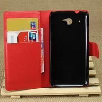 Peněženkové pouzdro pro HTC Desire 601- červené