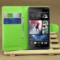Peněženkové pouzdro pro HTC Desire 601- zelené