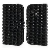 Černé pouzdro pro Samsung Galaxy S3 mini / i8190 - kamínkové