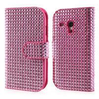 Růžové pouzdro pro Samsung Galaxy S3 mini / i8190 - kamínkové