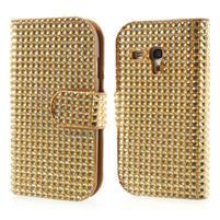 Zlaté pouzdro pro Samsung Galaxy S3 mini / i8190 - kamínkové