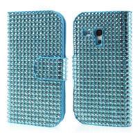 Modré pouzdro pro Samsung Galaxy S3 mini / i8190 - kamínkové