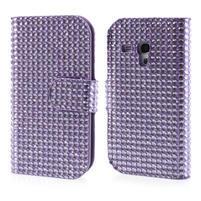 Fialové pouzdro pro Samsung Galaxy S3 mini / i8190 - kamínkové