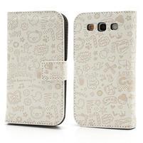 Peněženkové pouzdro na Samsung Galaxy S3 i9300- bílé