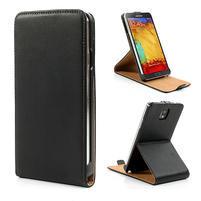 Flipové PU kožené pouzdro na Samsung Galaxy Note 3- černé