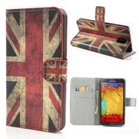 Peněženkové pouzdro na Samsung  Galaxy Note 3- UK vlajka