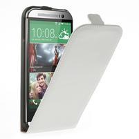 Flipové pouzdro pro HTC one M8- bílé