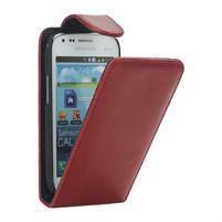 Flipové pouzdro pro Samsung Trend plus, S duos- červené