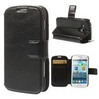 Peněženkové pouzdro na Samsung Trend plus, S duos - černé