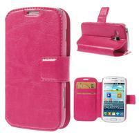 Peněženkové pouzdro na Samsung Trend plus, S duos - růžové