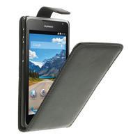 Flipové PU kožené pouzdro na Huawei Ascend Y530-černé