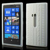 Silokonové PNEU pouzdro na Nokia Lumia 920- bílé
