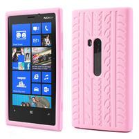 Silokonové PNEU pouzdro na Nokia Lumia 920- světlerůžové