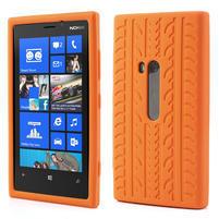 Silokonové PNEU pouzdro na Nokia Lumia 920- oranžové