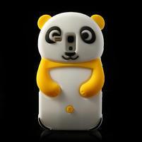 3D Silikonové pouzdro pro Samsung Galaxy S3 mini / i8190 - vzor žlutá panda
