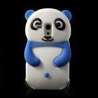 3D Silikonové pouzdro pro Samsung Galaxy S3 mini / i8190 - vzor modrá panda
