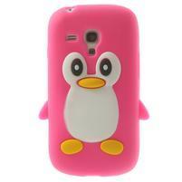 Silikonový TUČŃÁK pouzdro na Samsung Galaxy S3 mini i8190- růžový