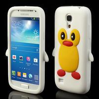 Silikon 3D TUČŇÁK pro Samsung Galaxy S4 mini i9190- bílý