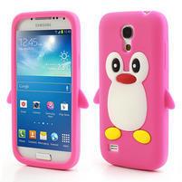 Silikon 3D TUČŇÁK pro Samsung Galaxy S4 mini i9190- růžový