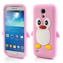 Silikon 3D TUČŇÁK pro Samsung Galaxy S4 mini i9190- světlerůžový