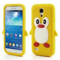 Silikon 3D TUČŇÁK pro Samsung Galaxy S4 mini i9190- žlutý