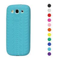 Silikonové PNEUpozdro pro Samsung Galaxy S3 i9300 - světle modrá