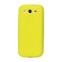 Silikonové PNEU pozdro pro Samsung Galaxy S3 i9300 - žluté